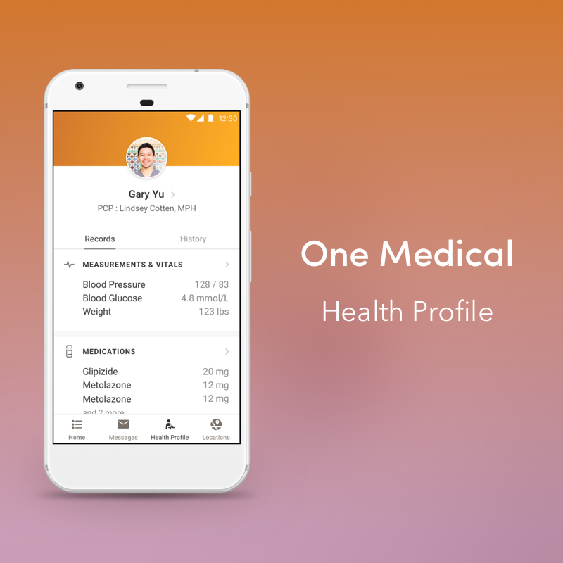 One Medical | Health Profile | Mobile    A complete snapshot of our patients health.