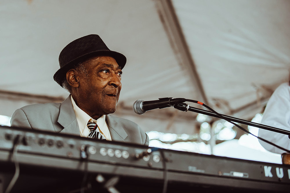 93-year-old Henry Gray will make his 20th appearance at the Baton Rouge Blues Festival this year. (Photo by Jordan Hefler)