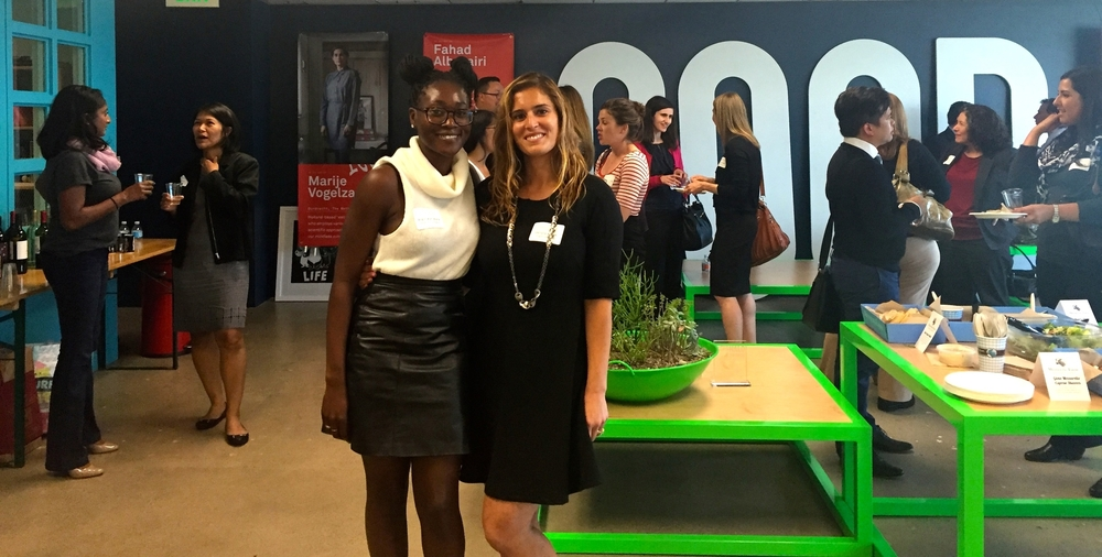 Danielle with event host Angie Jean-Marie, Goldhirsh Foundation's Social Innovation and M  arketing Manager