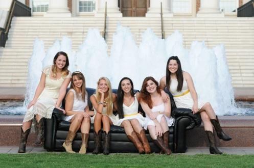 Freshmen:   Jane Gross,  Emmeline Whitcomb,  Kayla Mason,  Nadine Kakish,  Sarah Flanigan,   H arley Jones, Whitney Hewlett (not pictured)