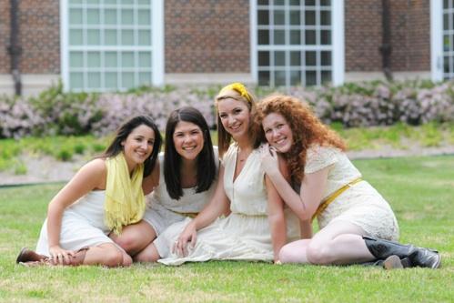 Seniors:  Katie Romano, Melinda Ng, Abi Clark, Rebecca Thompson