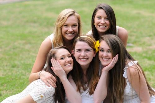 Sophomores:  Sydney Kamp, Shelby Langford, Shelby Sharp, Ally Van Deuren, Miranda Hanson