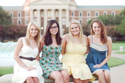 Seniors:  Alyson Ryall, Mary Anne Thompson, Annie Bures, Marielle Sheppel