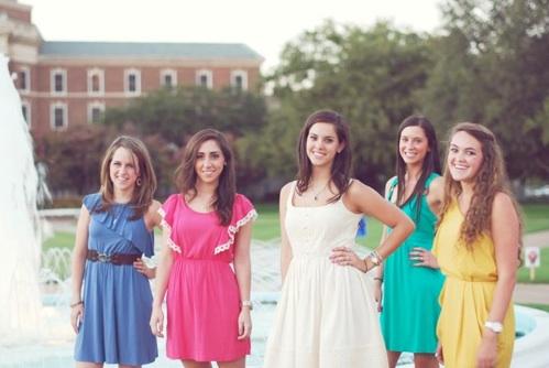 Freshmen:  Alie B. Gorie, Cristina Perez, Claire Burdette, Shelby Langford, Miranda Hanson