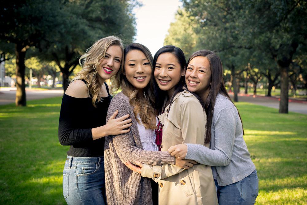 Freshmen:  Kinley Hicks, Alexa Kim, Kaitlyn Lee, and Jenny Rudolph