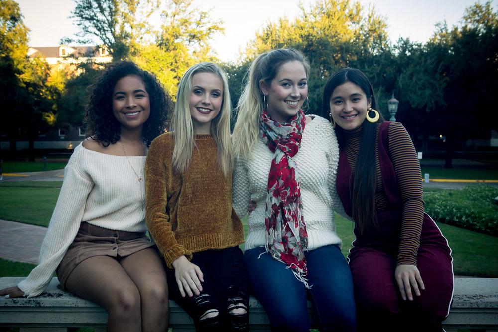 Sophomores:  Margaret Ebinger, Katherine Rossmiller, Maddie Mullen, and Inna Galeon