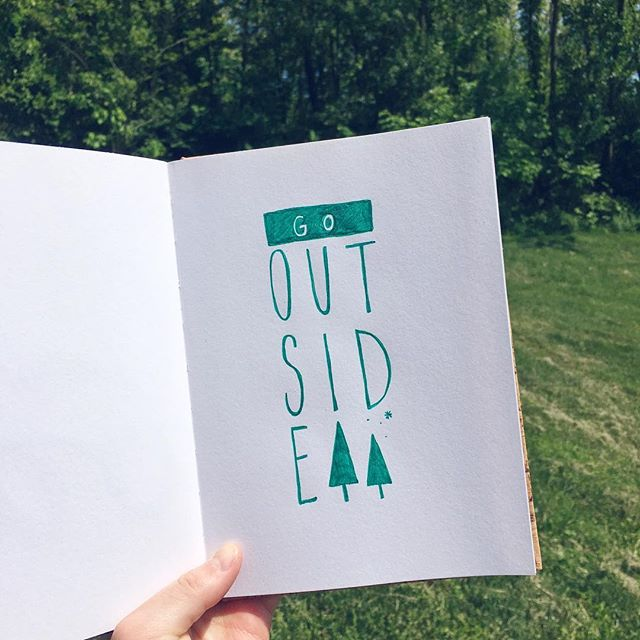 8/100 The average American spends around 90% of his or her life indoors. Did you know that being outside has important health benefits? Spending time outdoors has been shown to speed healing times, boost mood, improve concentration, and increase vitamin D levels in the body.  #100daysofwellnesslettering #the100dayproject . . . . . . #handdrawntype #handdrawnletters #artoftype #designspiration #thedailytype #thedesigntip #typegang #typespire #typemadness #thefinelab #goodtype  #dslettering #typism #welovetype #typematters #typeeverything #typographysketchbook #handletterer  #optoutside #adventureculture #travelandletter #inspiredbynature #keepitwild