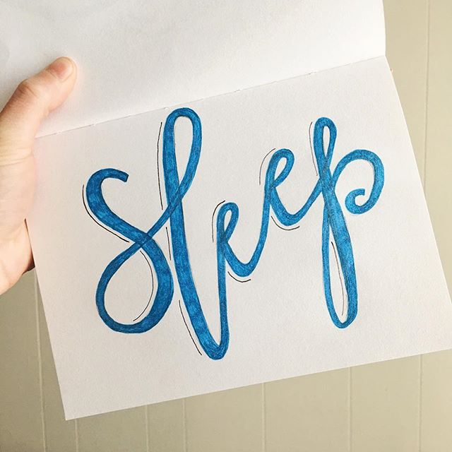 13/100 ✨WEEKLY WELLNESS CHALLENGE✨ This week's challenge is to get 7-10 hours of sleep per night. The amount of sleep each person needs is unique...so use this week as an experiment to see if you feel better with 7, 8, 9, 10 hours. Sleep is super important because it is when our bodies heal and repair and when our brains organize our thoughts and experiences. Share pics and stories with the hashtag #welltypeweeklychallenge . . . . . . . #handdrawntype #handdrawnletters #calligritype #slowroastedco #artoftype #designspiration #everydaylettering #thedailytype #thedesigntip #typegang #typespire #typemadness #thefinelab #TYxCA #goodtype  #dslettering #typism #50words #welovetype #typematters #typeeverything #typographysketchbook #handletterer  #customlettering #wellnesschallenge #the100dayproject #100daysofwellnesslettering