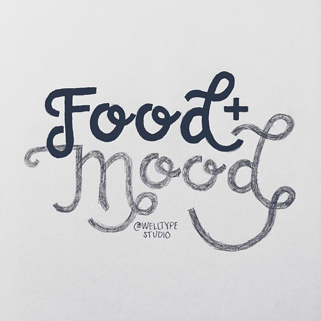 10/100 New research is just beginning to show the strong connection between food and mood. Our brains need to be nourished just like our bodies, and they also suffer when we eat food that lacks nutrients #100daysofwellnesslettering #the100dayproject . . . . . . . #handdrawntype #handdrawnletters #calligritype #slowroastedco #artoftype #designspiration #everydaylettering #thedailytype #thedesigntip #typegang #typespire #nutritioncoach #thefinelab #Foodmood #goodtype  #dslettering #typism #50words #welovetype #typematters #typeeverything #typographysketchbook #handletterer  #customlettering #healthcoach
