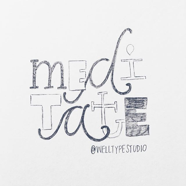 1/100  M E D I T A T E to strengthen immunity, feel more calm and balanced, lower blood pressure, decrease inflammation in the body, improve fertility, and reduce digestive issues.  #100daysofwellnesslettering #the100dayproject . . . . . . #handdrawntype #handdrawnletters #calligritype #slowroastedco #artoftype #designspiration #everydaylettering #thedailytype #thedesigntip #typegang #typespire #typemadness #thefinelab #TYxCA #goodtype  #dslettering #typism #50words #welovetype #typematters #typeeverything #typographysketchbook #handletterer  #customlettering