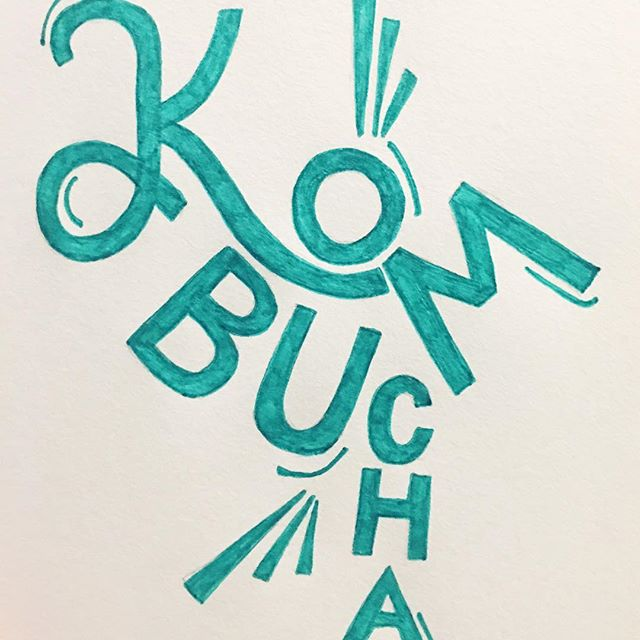 2/100 Have you tried this probiotic-filled, fermented tea yet? Kombucha contains more antioxidants than tea itself (brought out by the fermenting process) and is excellent for gut health!  #100daysofwellnesslettering #the100dayproject . . . . . . #handdrawntype #handdrawnletters #calligritype #slowroastedco #artoftype #designspiration #everydaylettering #thedailytype #thedesigntip #typegang #typespire #healthcoach #thefinelab #TYxCA #goodtype  #kombuchalove #typism #50words #welovetype #typematters #typeeverything #typographysketchbook #handletterer  #customlettering
