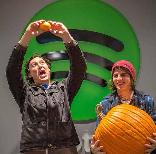 @SpotifyHQ Some Fall themed fun with The Front Bottoms! Thanks for stopping by.