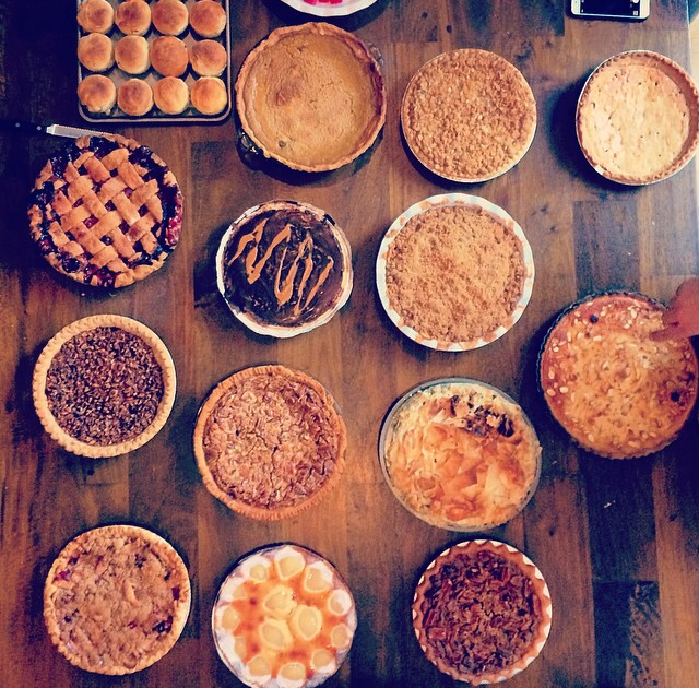 @Zolaregistry   Pie tasting at Zola HQ to celebrate Thanksgiving family style. Bring on the pie!