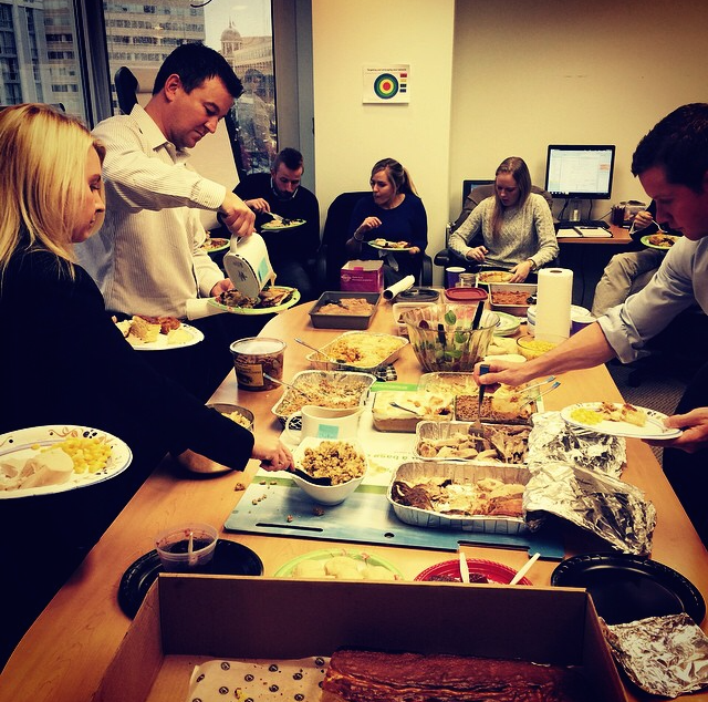 @Outfrontmedia   Annual #Worksgiving at #OUTFRONTMedia in #DC! #Thanksgiving