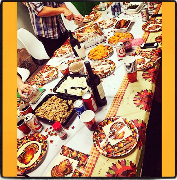 @DigitalAdditive Everyone's at the big table today for #worksgiving today!
