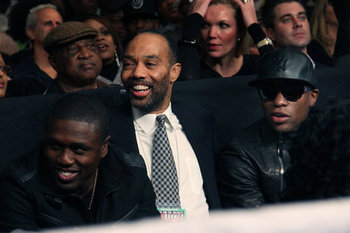 Haymon with two of his fighters - Floyd Mayweather and Andre Berto