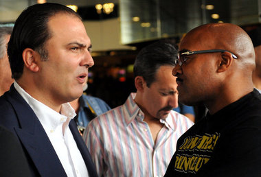 A future addition to the The Money Team?  Richard Schaefer in discussions with Mayweather Promotions' CEO, Leonard Ellerbe.