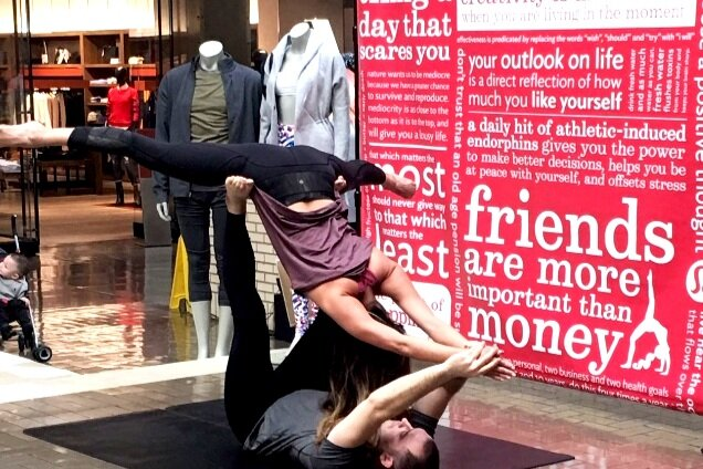 Demo by Lululemon at Dallas' Northpark Mall.