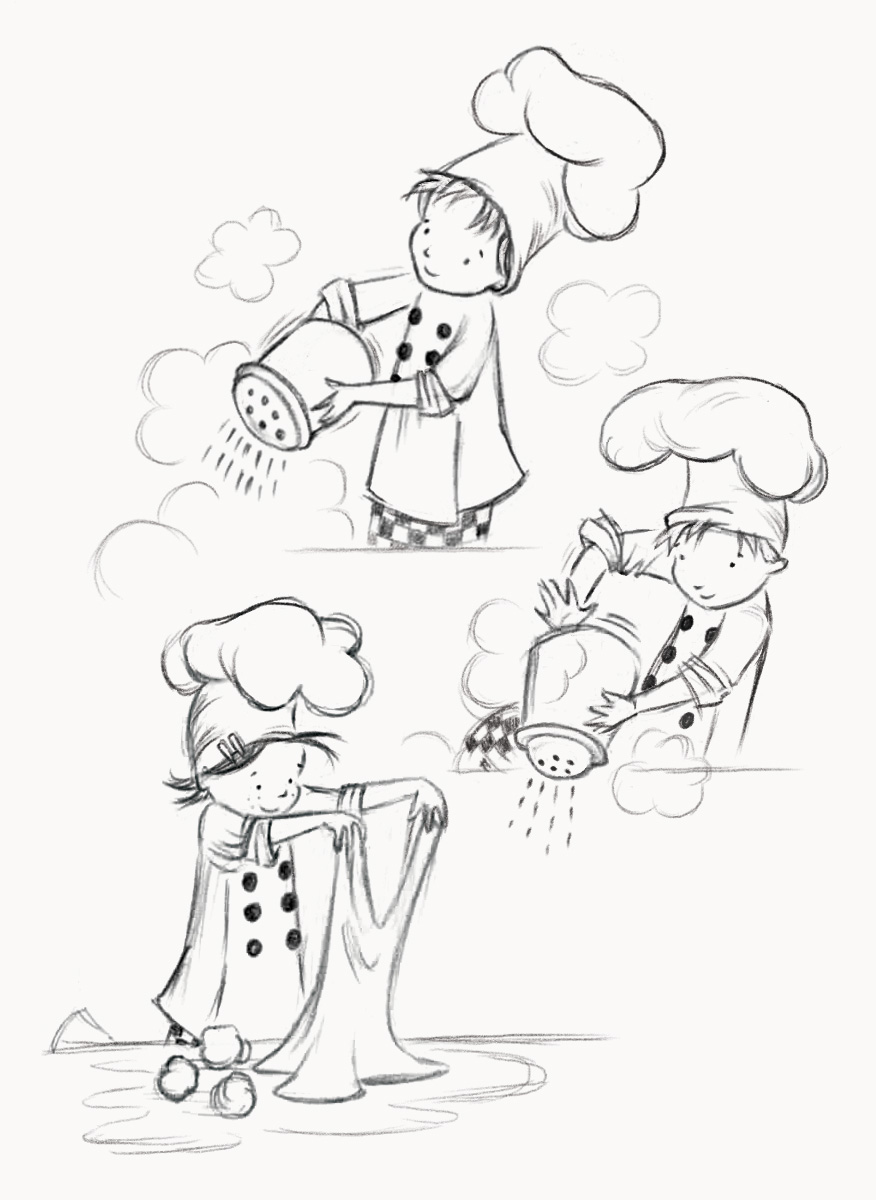 Baking Action Sketches