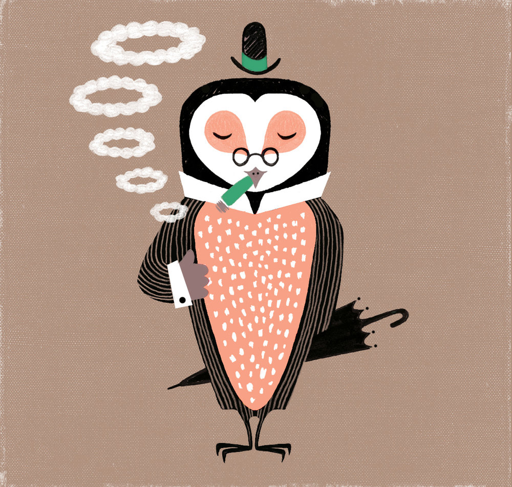 Dapper Owl (Redux) - Submission for 2015 (Now in a fresh palette)