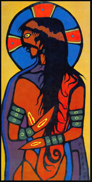 Indian Jesus Christ by Norval Morrisseau // image courtesy of www.norvalmorrisseaublog.com