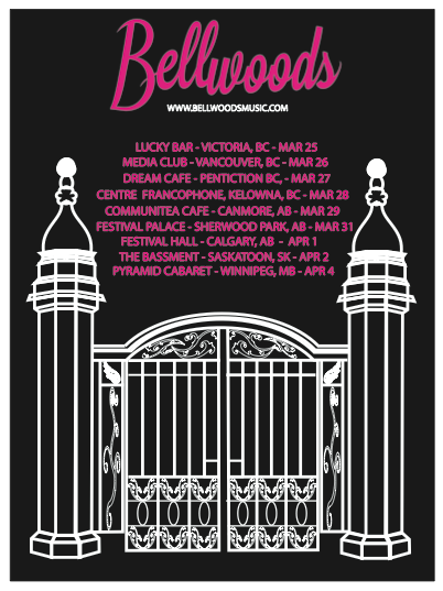 Poster Design for the band Bellwoods