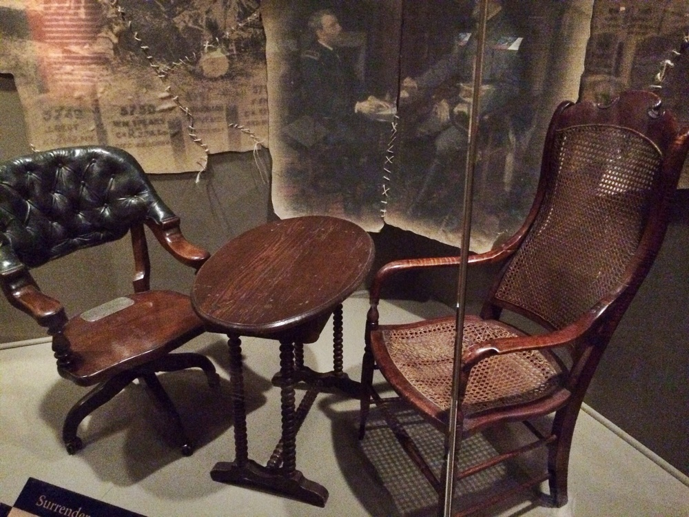 civil war era Furniture used at appomattox when general lee surrendered the confederate army