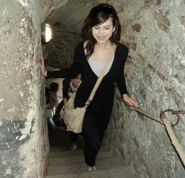 Exploring a Czech castle, 2011