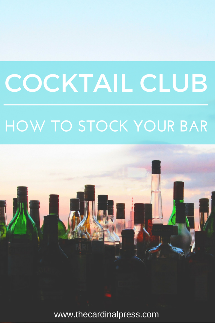 how to stock your bar
