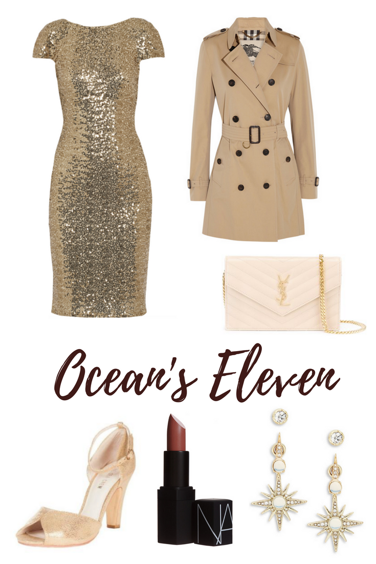 Dress  |  Coat  |  Shoes  |  Bag  |  Earrings  |  Lipstick