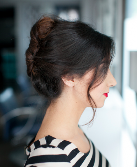 how to style a french twist