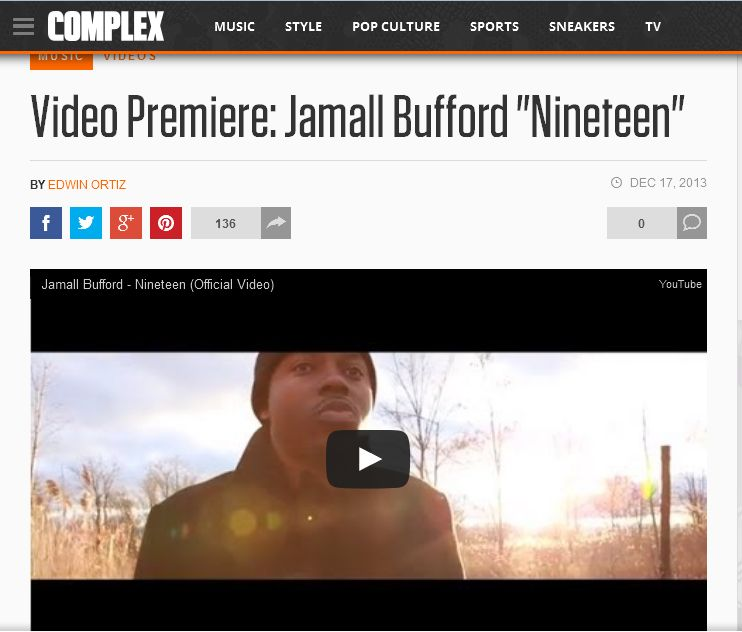 "COMPLEX Premieres Jamall Bufford's ""Nineteen"" Music Video"