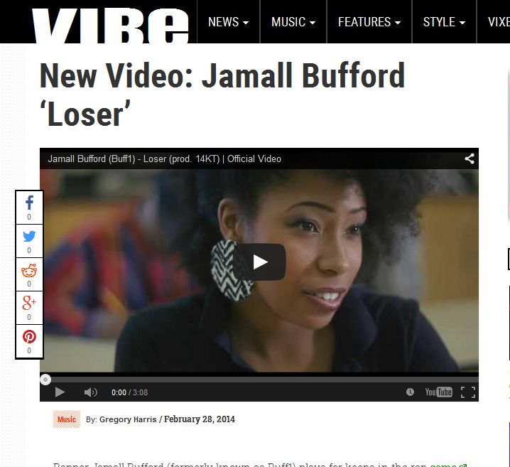 VIBE Features Jamall Bufford's 'Loser' Video