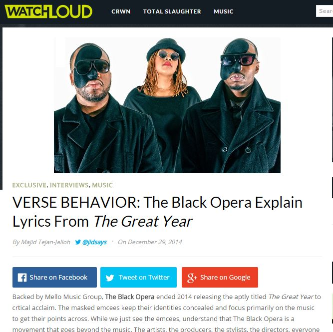Exclusive WatchLOUD 'Verse Behavior' Interview With The Black Opera
