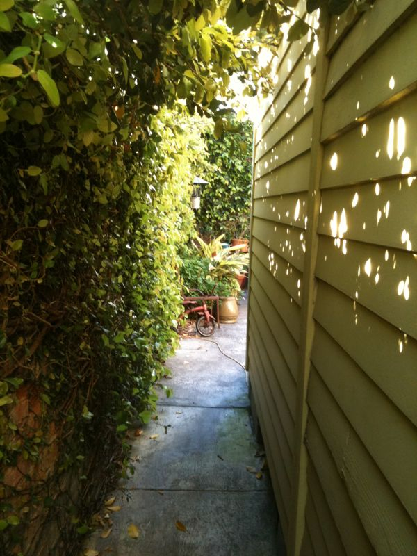 Go through the secret garden and on the other side will await some home brew. Yurm!