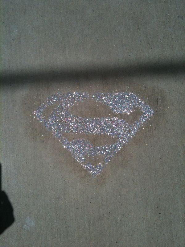 Sidewalk glitter