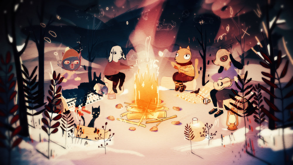 Yule Log 2016: Under the Stars with Spooky Friends