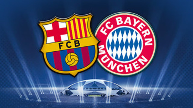 Barcelona v Bayern Munich Champions League 1st leg on FIFA 15 at.