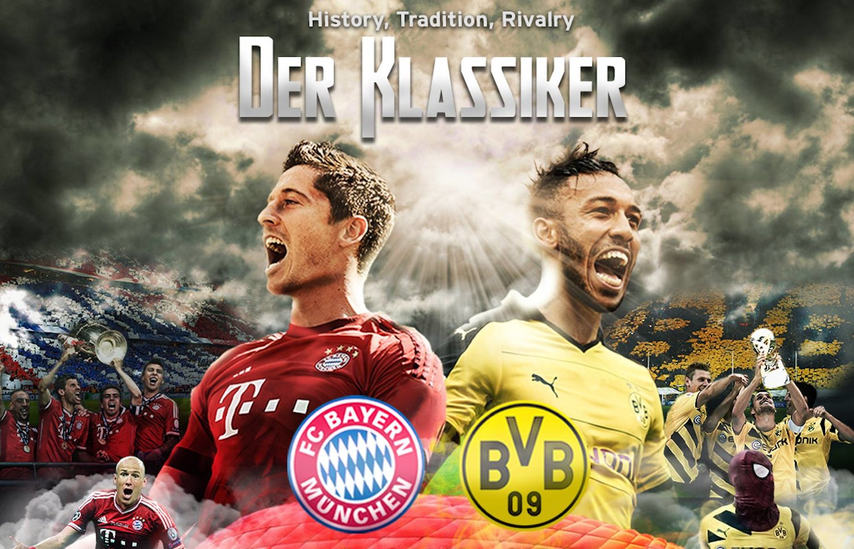 Der Klassiker Fc Bayern Munchen Vs Borussia Dortmund Zum