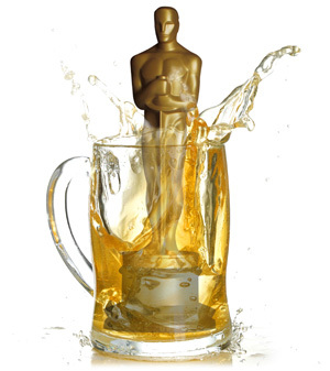 Beer splashes in a mug.