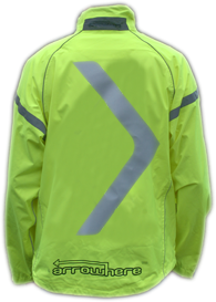 ArroWhere Single Arrow High Visibility Reflective Jacket (day)