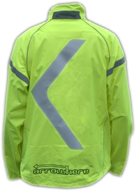 ArroWhere Single Arrow (US-market) High Visibility Reflective Jacket (day)
