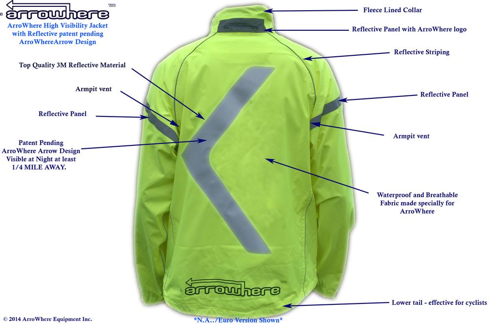 ArroWhere Equipment Inc. Jacket Description (rear)