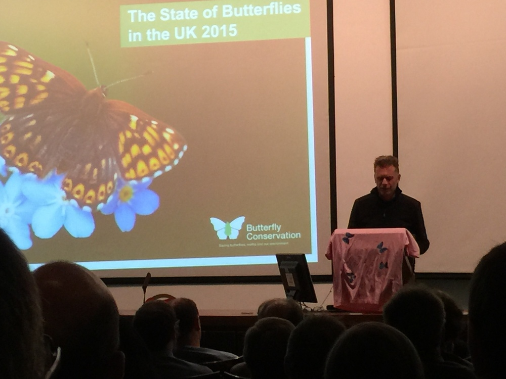 Chris Packham at the launch of  The State of the UK's Butterflies 2015