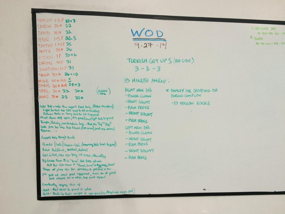 WOD 9/27/2014