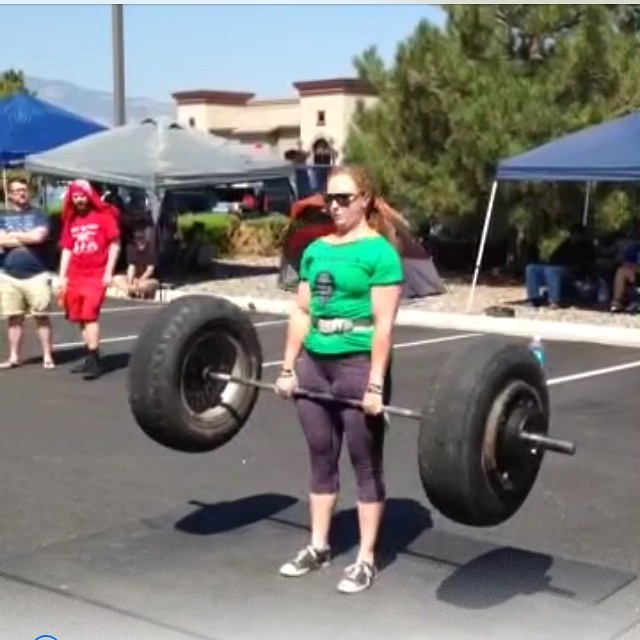 You think THIS is cool? Just wait till she deadlifts a car this weekend.. for reps!