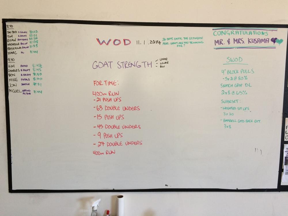 WOD 11/1/2014