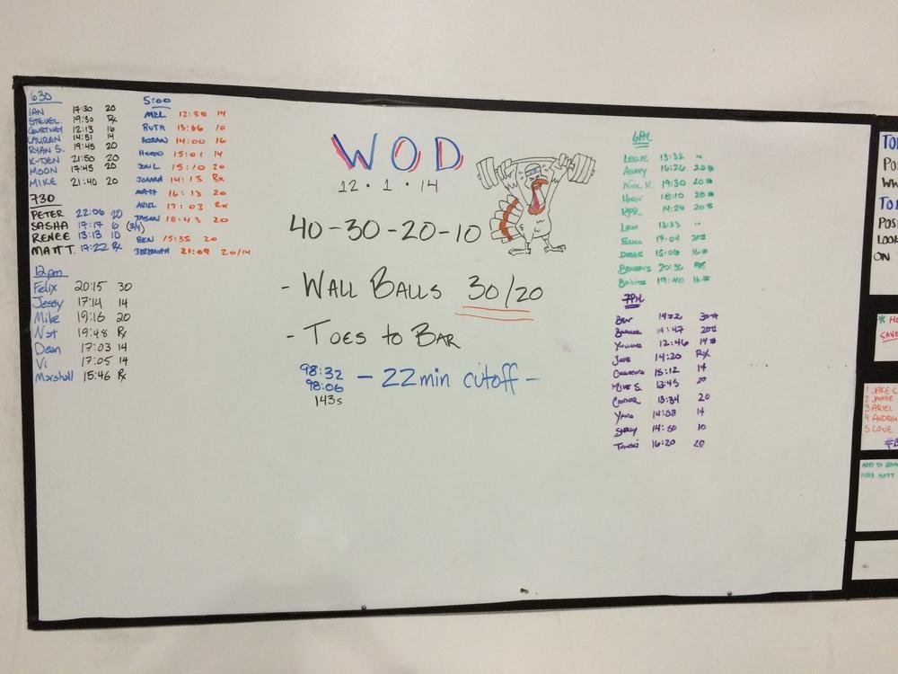 WOD 12/1/2014
