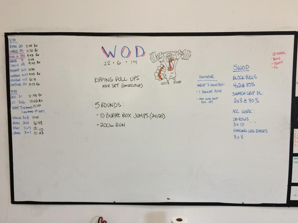 WOD 12/6/2014