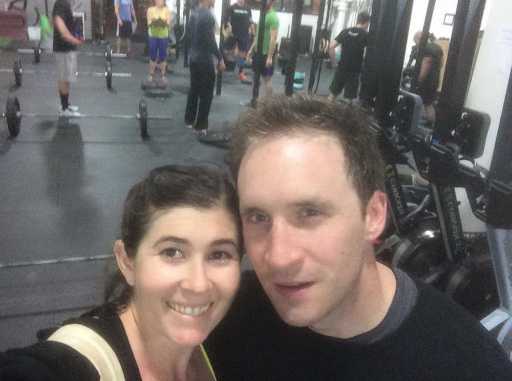 Debra & Peter survey the trail of destruction they left during the 2015 CrossFit Open